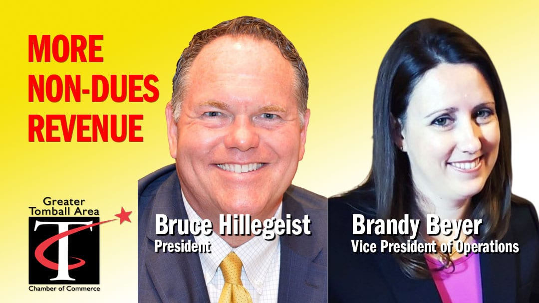 Bruce Hillegeist and Brandy Beyer Non-dues revenue ideas for Chambers of Commerce